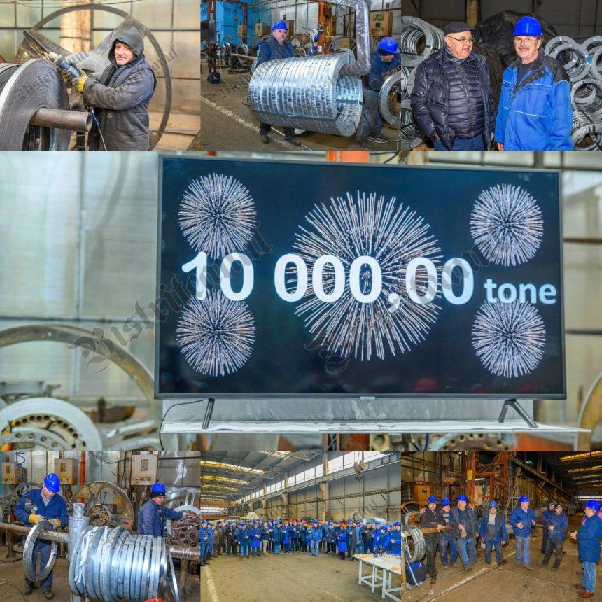 FOTO/VIDEO – RECORD la Betak: 10.000 de tone de oțel prelucrate în 2019! Jumătate din producție a plecat la export