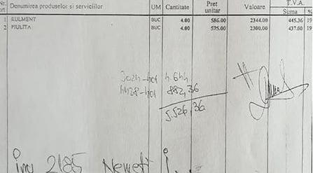 Cu patru piulițe de la LDP trăim ca boierii! Peste 100 de euro a plătit SRL-ul Consiliului Județean pe o banală piuliță: