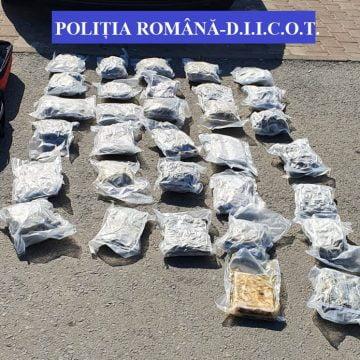 FOTO/VIDEO: 9 kg de droguri găsite la un tânăr bistrițean! A ajuns după gratii!