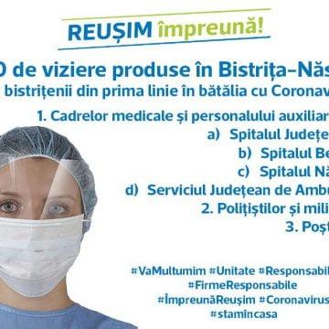 Deputatul PMP de Bistrița-Năsăud, Ionuț Simionca, donează 1000 de viziere pentru bistrițenii aflați în prima linie în lupta cu Coronavirusul