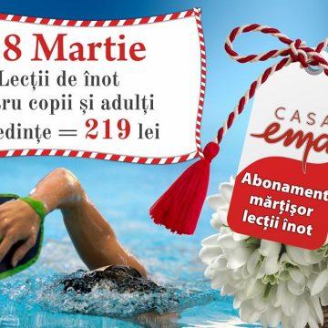 Promoție la lecțiile de înot, acum, la Casa EMA!