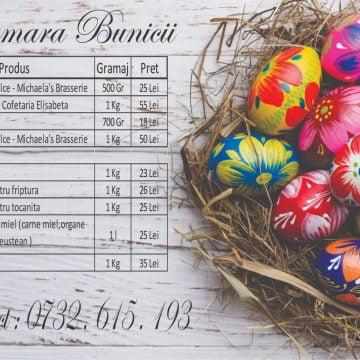 Cămara Bunicii mai primește comenzi de Paște până miercuri! AFLĂ și programul: