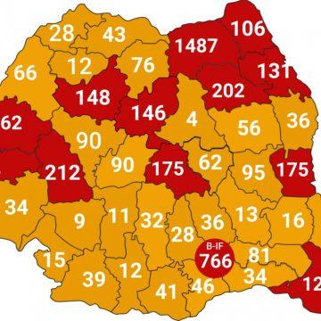 Avem, la nivelul județului, 76 de infectați, 7 decedați și 11 vindecați. Național- am ajuns la 5.202 cazuri