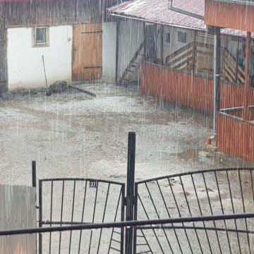"""FOTO/VIDEO – A plouat cu gheață la Sebiș: """"După cinci minute au tras clopotele și s-a împrăștiat!"""""""