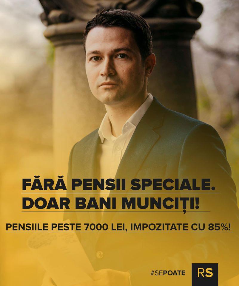 Robert Sighiartău (PNL):  Pensiile speciale se vor impozita cu 85%