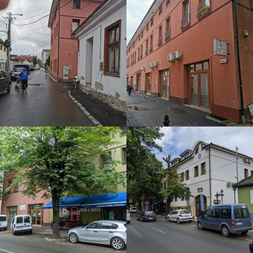 Arhitectul șef al Primăriei Bistrița are un spațiu comercial într-o clădire de pe Republicii unde se ascunde un bloc cu 18 apartamente, iar construcția ocupă trotuarul