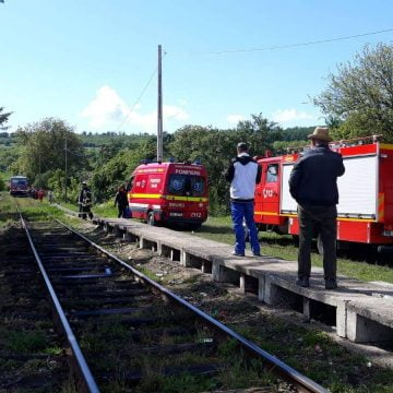 FOTO/VIDEO: Un bărbat a fost spulberat de tren în Livezile