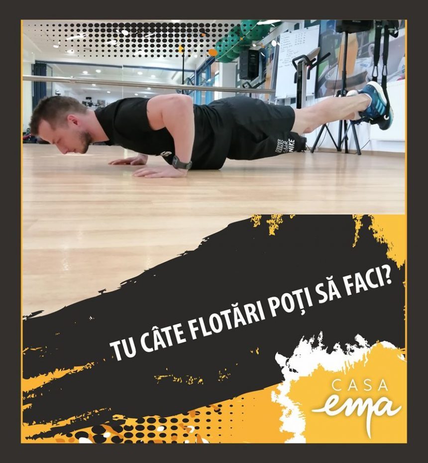 PROVOCARE: Casa Ema oferă un abonament la sala de fitness dacă faci 50 de flotări