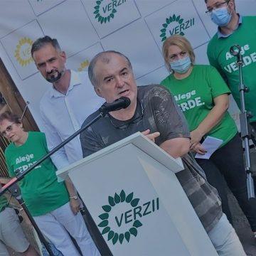 CHESTIUNEA ZILEI: Florin Călinescu alături de Dan Ciobănică, la lansarea candidaturii oficiale la primăria municipiului Bistrița