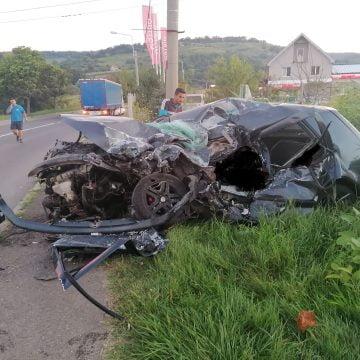 FOTO Bistrițean, implicat într-un accident mortal în Mediaș. Celălalt șofer n-a avut nicio șansă!
