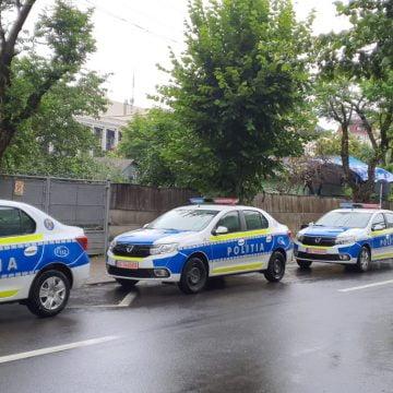 Mașini noi pentru polițiștii bistrițeni! DE CE albastru și galben: