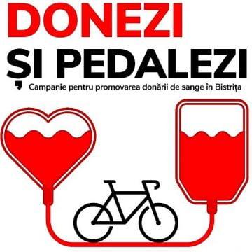 """""""Donezi și pedalezi"""" – o campanie inedită pentru promovarea donării de sânge"""
