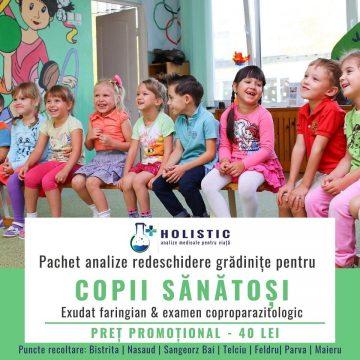 """HOLISTIC: Pachet promoțional de analize """"Copii sănătoși"""""""