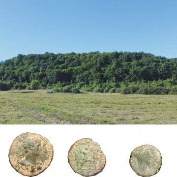 Monede romane găsite în Jelna. În zonă ar fi funcționat un punct de control roman