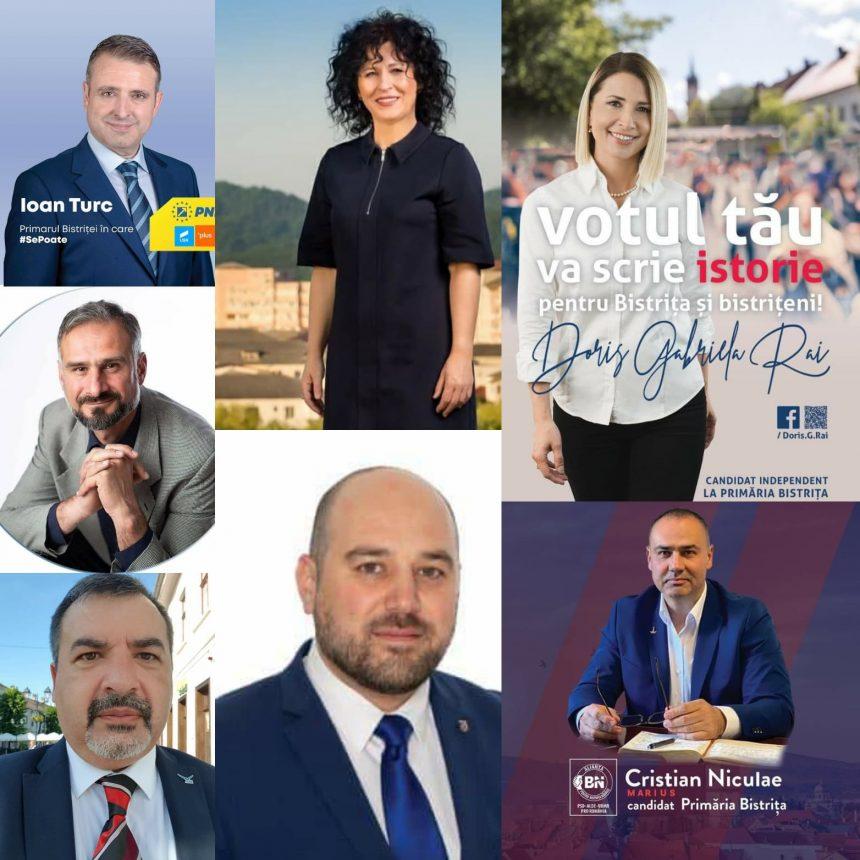 BĂTĂLIA pentru Bistrița: 9 candidați, 9 partide și 3 alianțe politice intră în cursa pentru fotoliul de primar și pentru cele 21 de locuri din Consiliul Local