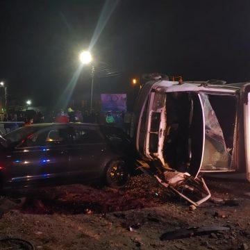 FOTO: Accident mortal în Năsăud. Doi bărbați și-au pierdut viața