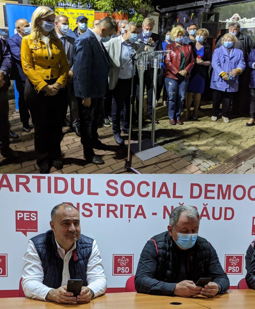 VIDEO: CARE a fost atmosfera la sediul PSD și PNL după aflarea rezultatelor