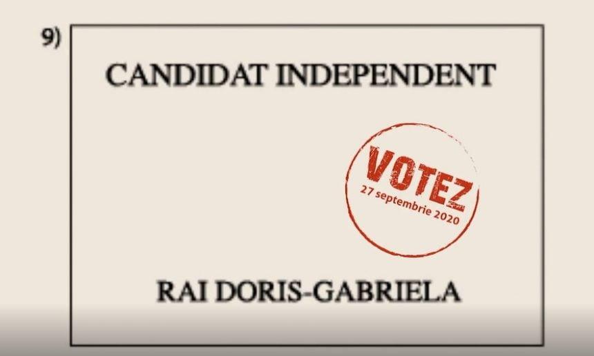 Doris Rai: Întoarcem foaia și votăm Bistrița 9!