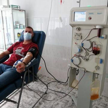Încă un jandarm vindecat de COVID-19 a sărit în sprijinul bolnavilor și al medicilor și a donat plasmă