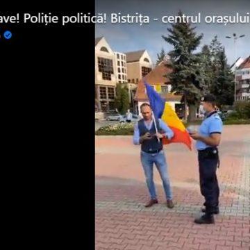 VIDEO: Susținătorii AUR, amendați de jandarmii bistrițeni
