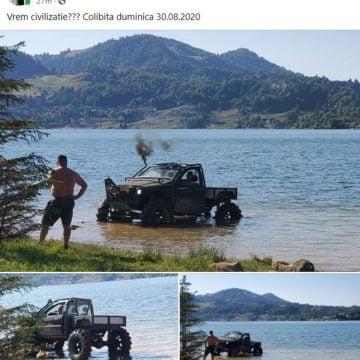 """""""Notă de plată"""" consistentă după ce și-a spălat mașina de teren în Colibița. Cu cât l-au taxat Apele Române pe nesimțit"""