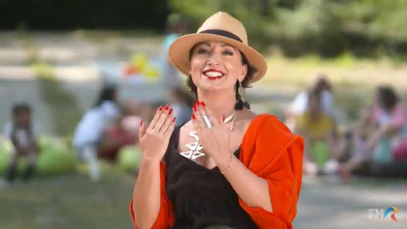 VIDEO – Apariție spectaculoasă, în matinalul TVR! O nouă provocare, pentru Angie Cobuț din Prundu Bârgăului