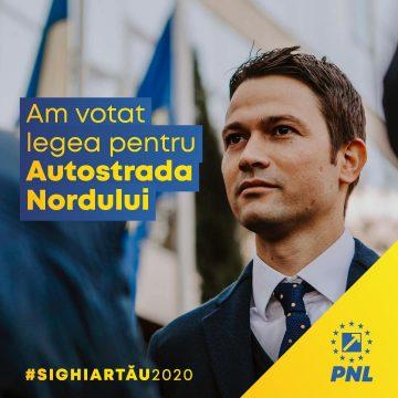 Robert Sighiartău (PNL): Autostrada Nordului, un obiectiv de investiții crucial pentru dezvoltarea economică a județului
