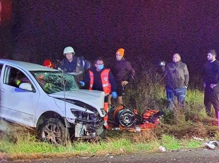 FOTO/VIDEO: Două accidente în nicio jumătate de oră: Unul în Sîngeorz, altul în Beclean