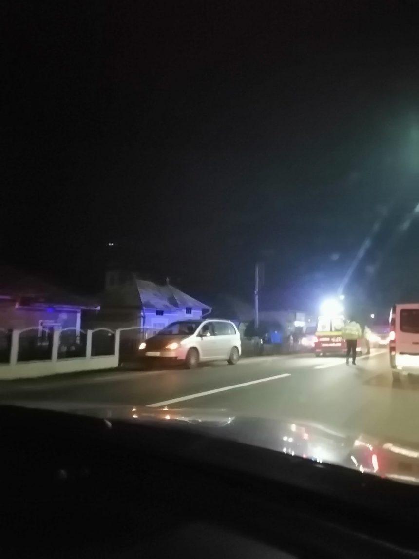 FOTO/VIDEO: Pieton lovit de mașină în Rusu Bârgăului