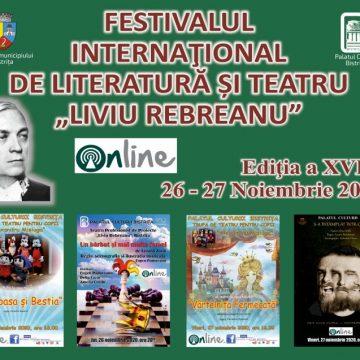 """BISTRIȚA: La Palatul Culturii începe azi Festivalul Internațional de Literatură și Teatru """"Liviu Rebreanu"""""""