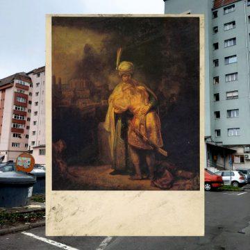 Rostul de dimineață:  Rembrandt – pierdut și abandonat, lângă un tomberon de gunoi din Bistrița…?!?