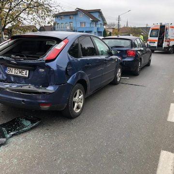 FOTO: Accident în lanț la ieșirea din Bistrița spre Unirea