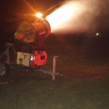 FOTO – Agitație pe Pârtia Cocoș: S-au pornit tunurile de zăpadă!