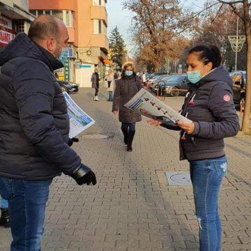 Ionuț Simionca (PMP) între bistrițeni imediat după ridicarea carantinei