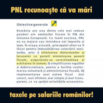 PSD BN: PNL confirmă în propriul program de guvernare că va crește taxele!