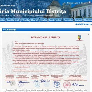 Site-ul Primăriei Bistrița, de pe vremea lui Vasile Moldovan, devine istorie! Noua administrație promite o platformă modernă