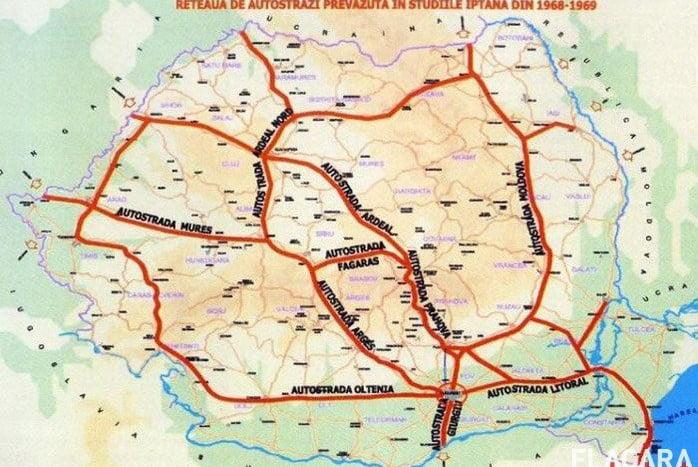 B-N trebuia să aibă autostradă încă de pe vremea lui Ceaușescu! Cum arăta rețeaua de autostrăzi gândită de liderul comunist