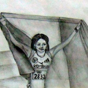 """VIDEO – Emoționant omagiu, la """"Cuibul Visurilor"""" din Maieru: O expoziție de pictură, în amintirea unei mari campioane olimpice"""