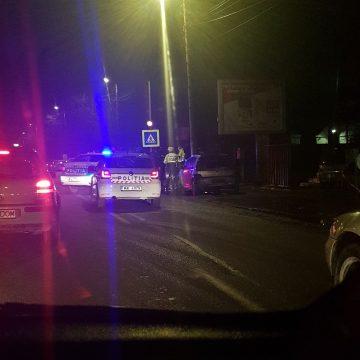 FOTO: Două autospeciale ale poliției au colizionat, în drum spre o intervenție
