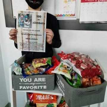 INEDIT: 100 de zile de școală la Logos + 100 de bomboane = 100 de copii fericiți… la Vaslui