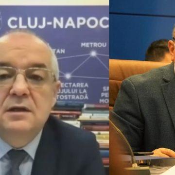 """VIDEO: Radu Moldovan și Emil Boc """"se pupă"""" pentru drumurile expres"""