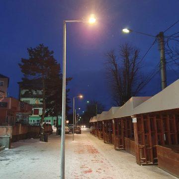 FOTO: S-a făcut lumină pe drumul Gării din Beclean! Cu tehnologie LED!
