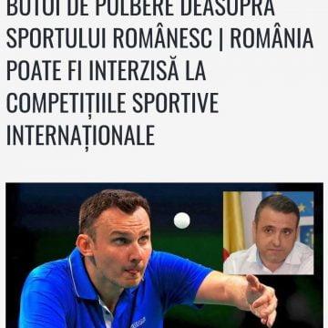 GRAV: Propunerea politică a lui Turc la șefia Antidoping ar putea aduce României sancțiuni  grave
