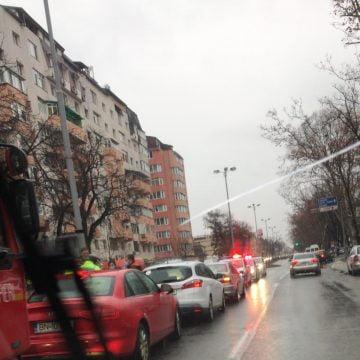 FOTO: Trafic dat peste cap, pe Independenței, după o coliziune în lanț
