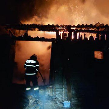 FOTO/VIDEO: Două văcuțe au murit într-un incendiu izbucnit în Telcișor