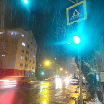 VIDEO: Un minut de stranie ninsoare, la sfârșitul lui martie, în Bistrița…