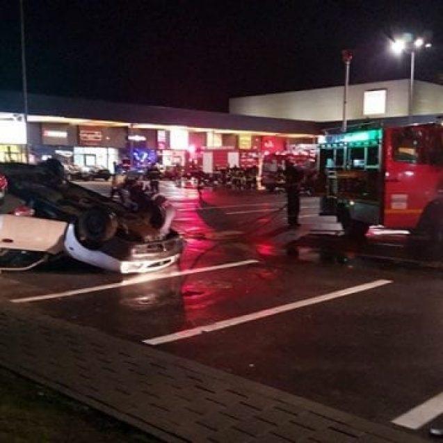FOTO/VIDEO: Pompierii, polițiștii, salvatorii SMURD și cei de la Ambulanță au intervenit ieri la B1 Retail Park – Bistrița