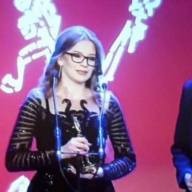 EXCELENT: Diana Spătărescu, elevă în clasa a XI-a la Infoel, a câștigat Premiul Gopo – echivalentul Oscarurilor românești