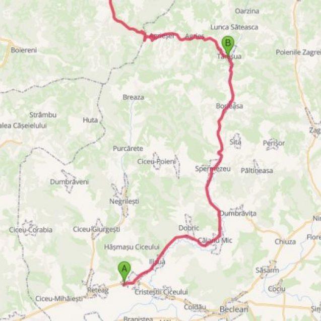 Rută ocolitoare a comunei Ciceu Giurgești pentru cei ce vin sau merg spre Maramureș
