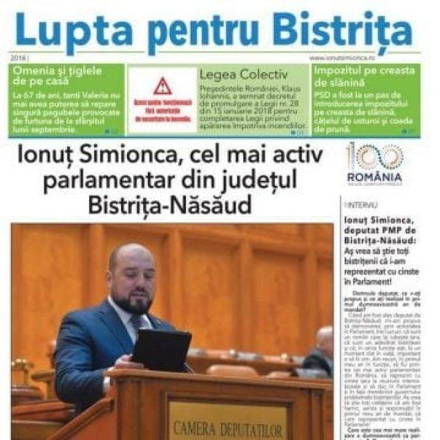 FOTO: Fără patimă, deputatul Ionuț Simionca își prezintă rezultatele
